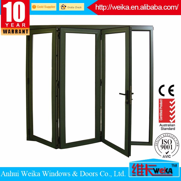 German hardware interior folding doors/horizontal bi-folding doors/soundproof folding interior door