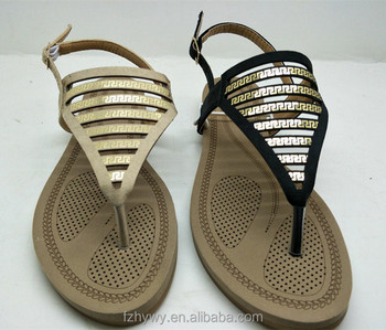 890c28212 2018 Roman style Latest designed ladies flat slipper sandal wholesale women  shoes sandals