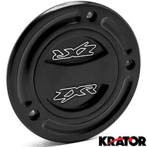 Krator Black Keyless Gas Cap Twist Off Fuel Tank Cap Logo For Kawasaki ZZR600 2005-2007