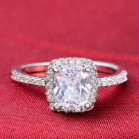 Wholesale High Quality MOONSO Yellow Topaz Rings Colored O Rings Diamond Engagement Ring AR466S