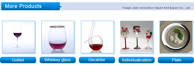 Hot enamel pewter crystal glass red wine glass with tin