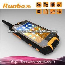 2012 low price Runbo X5 IP67 GPS 3G Bluetooth Wifi Walkie-Talky waterproof android mobile phone mobile phones with camera