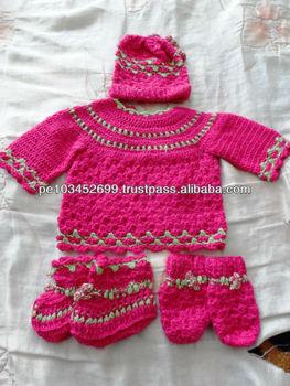 8075a09c0 Set Handmade Knitted Baby Alpaca Clothing Peru - Buy Newborn ...