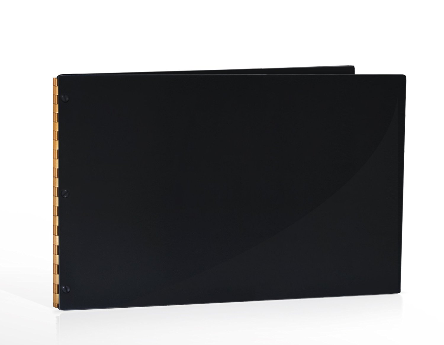 11x14 Landscape Black Glossy Portfolio with Gold Hinges. Portfolio book, Screw post portfolio, Portfolio Presentation. Engraving services are not included.