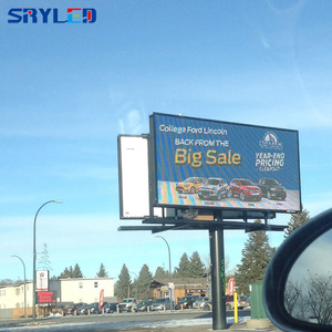 SRY P10 full color LED outdoor double sided led sign billboard for advertising