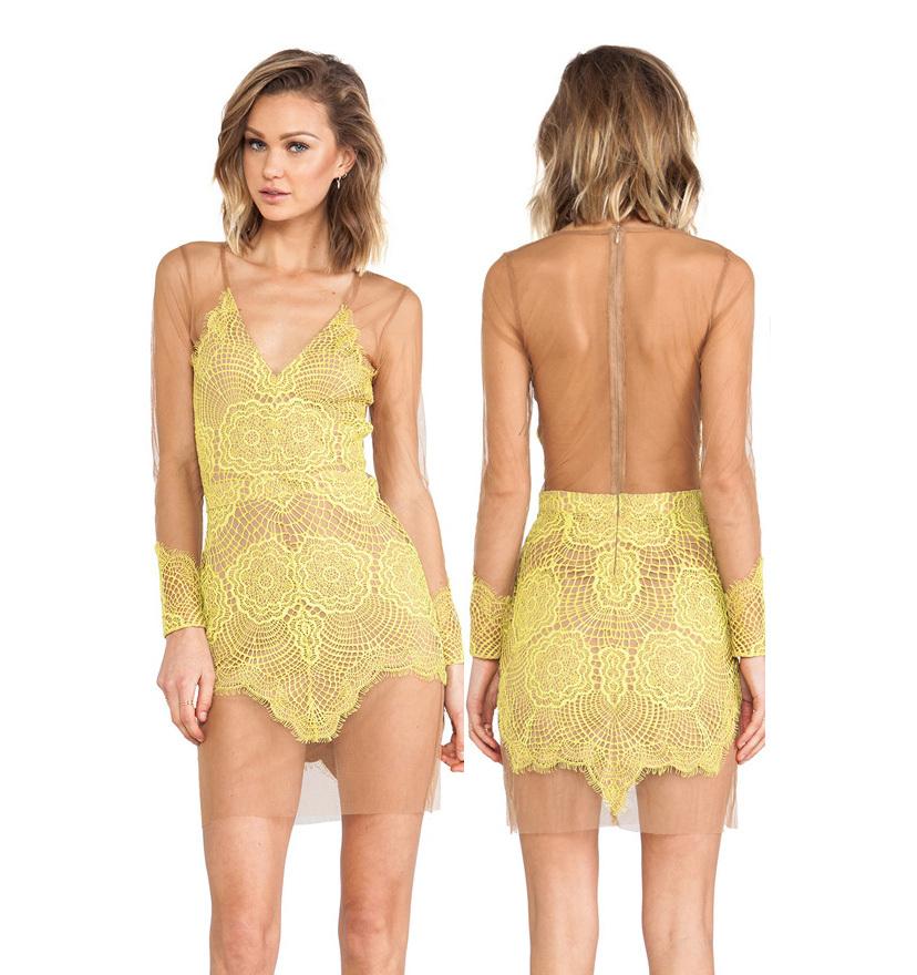 4e42bdeb1da Get Quotations · Free shipping sexy women lace dresses short tight mini  luxury deep v-neckl clothes