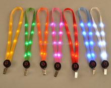 LED Light up lanyard llavero ID badge collar llaves titular <span class=keywords><strong>cuerda</strong></span> colgante