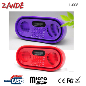 Portable digital mini speaker FM/AM radio for old man gift support tf card factory wholesale L-008