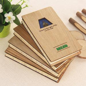 Simple design A5/A6 wood cover notebook