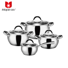 apple shape stainless steel 0.6mm body thickness super capsule bottom cookware sets