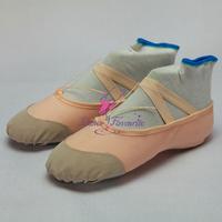 Wholesale Leather Toe Split Sole Ballet Dance Shoes DFS-0002
