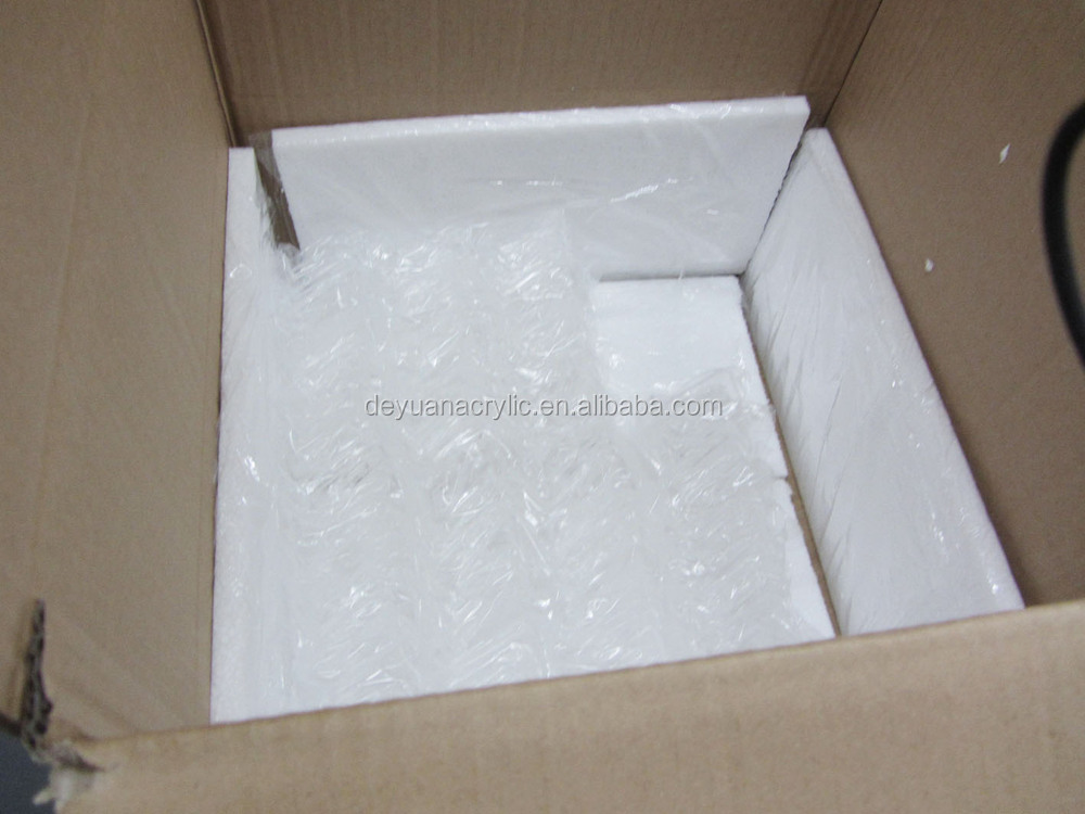 wholesale small clear acrylic/glass/ plastic display  rose box with lock