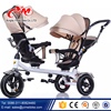 Luxury baby stroller tricycle buggy / Aluminum Frame Four Wheels cheap kids tricycle / children double seat tricycle