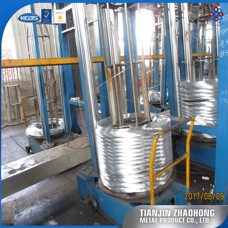wax-coated 2.11 mm pulp-binding galvanized wire / vineyard electral galvanized steel wire / zinc coated cotton baling wire