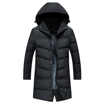 Outdoor Clothing Men's Coat Jacket High-Quality Hooded Winter Men Padded For Warmth