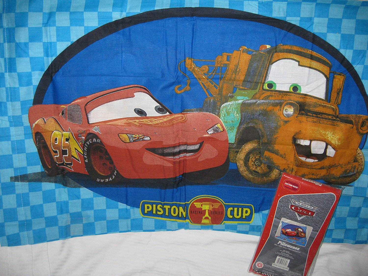Disney Pixar The World of Cars Pillowcase McQueen & Mater