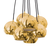 Gold ball shades high quality replace chandelier lighting new york