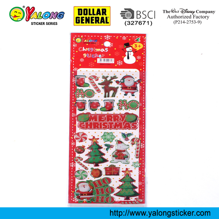 Chirstmas crystal decor epoxy puffy sticker
