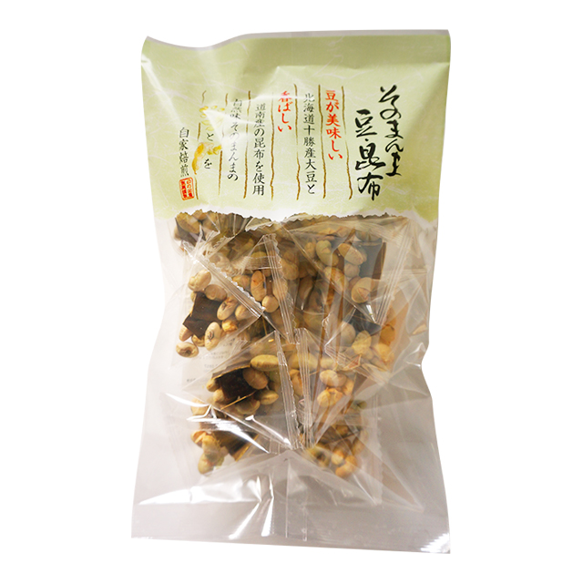 Popular roasted seaweed nori bean snacks in Japan