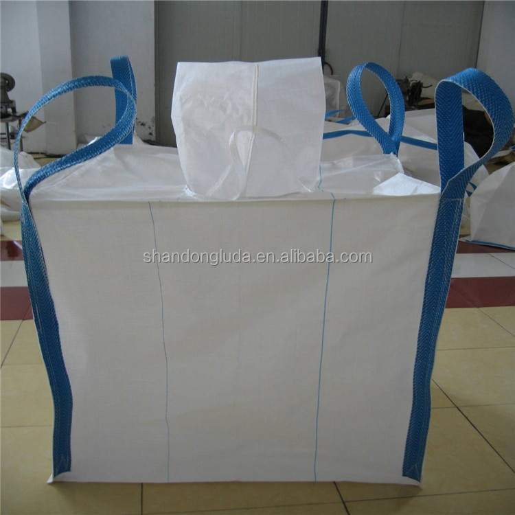 Virgin polypropylene fibc big bag 1 ton 1.5 ton sling bag 2 ton plastic jumbo bag