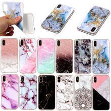 NEW Arrival 2018 Simple Fashion Slim Soft TPU IMD Marble Phone Case for iPhone X
