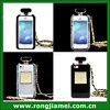 Luxury Black/Clear Perfume Bottle TPU Case For IPhone 4/4S ,For sunsumg