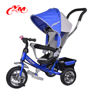 Foot pedal tricycle kids with back seat/pedal cars baby tricycles big wheel/good parts of the baby tricycle price with pusher