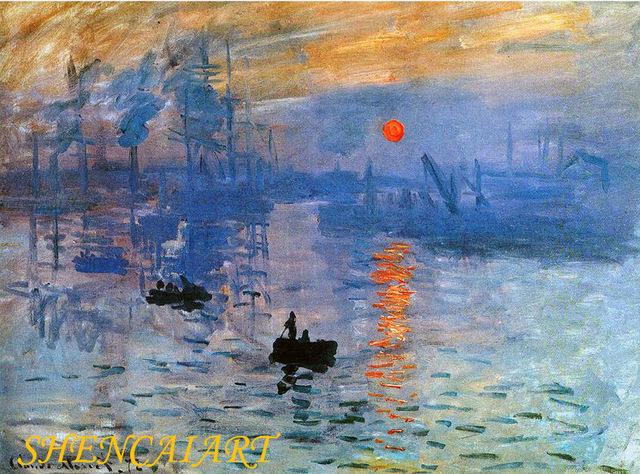 Claude Monet célèbre tableau Impression , soleil levant