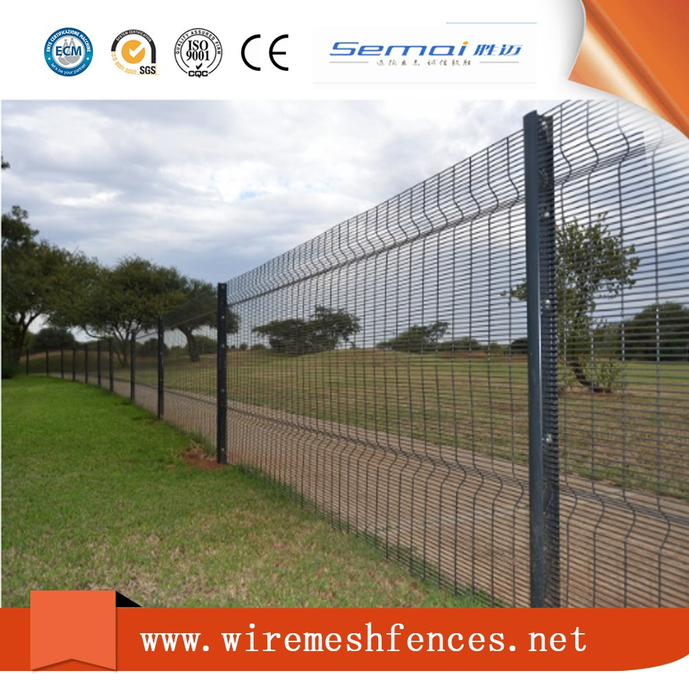 358 pvc coated welded wire mesh , security electric fence