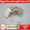 CE ROHS approved 10m 100 leds light christmas controlled color changing outdoor christmas led string lights