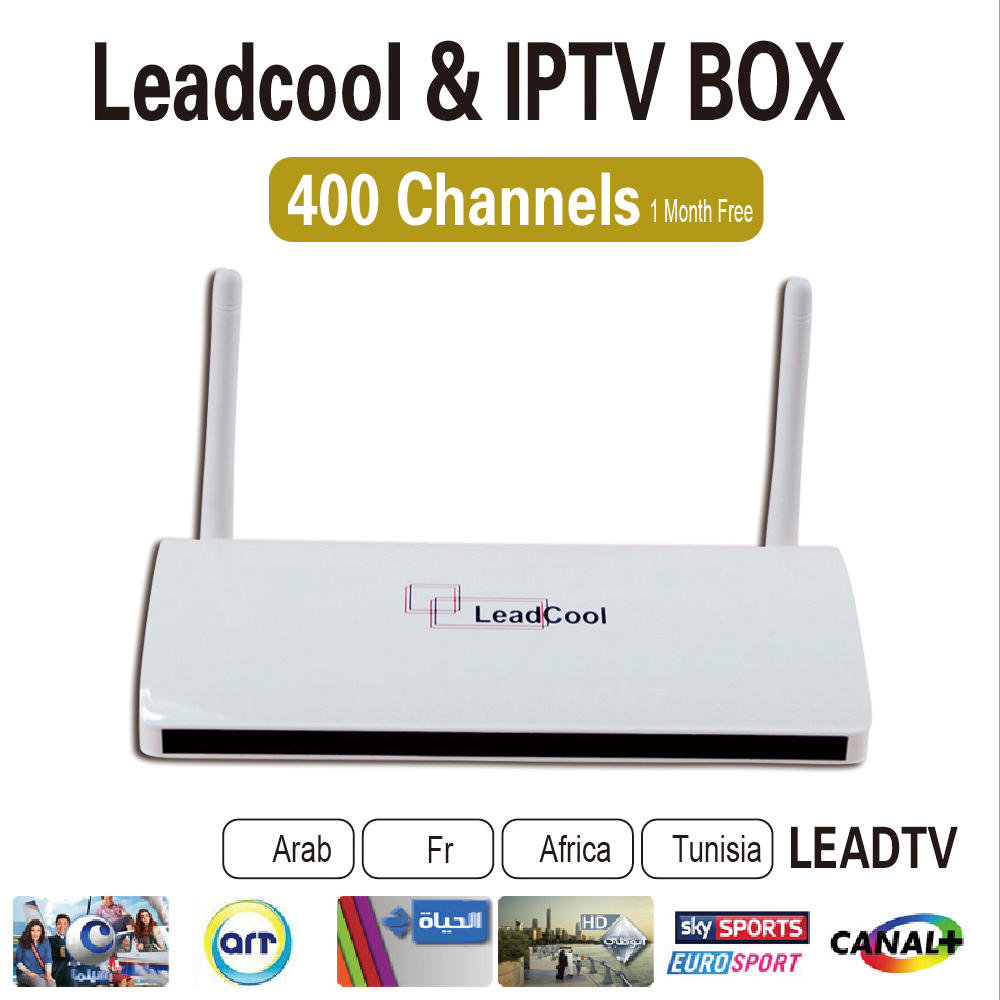 5pcs/Lot Leadcool Android Box Android Tv Box Quad Core + One Month Iptv  Subscription 480 Channels Iptv Channels List Porn - drone4sky
