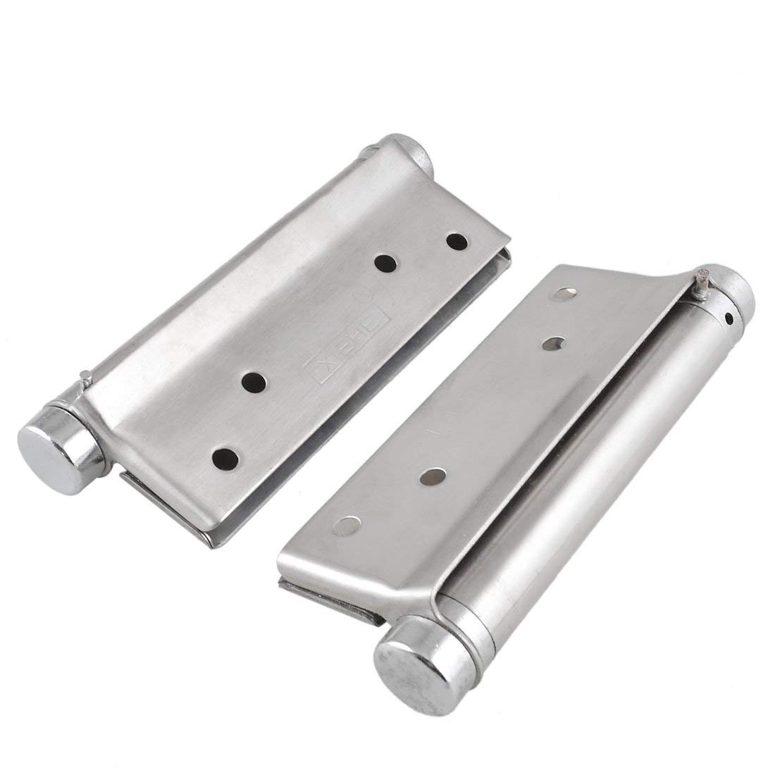 uxcell Screws Mounted Silver Tone Stainless Steel Door Hinge 140mm Length