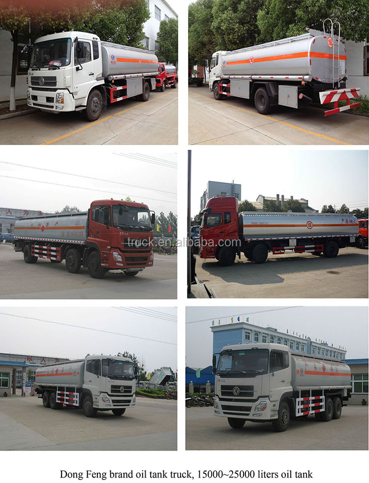 DongFeng 20000 litros tanque de aceite camión tanque de combustible 20 m3 de combustible camión