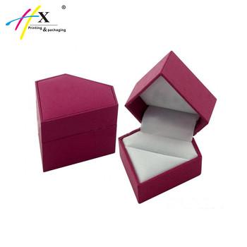 Creative Design Diamond Shape Jewelry Gift Paper Box With Custom Logo