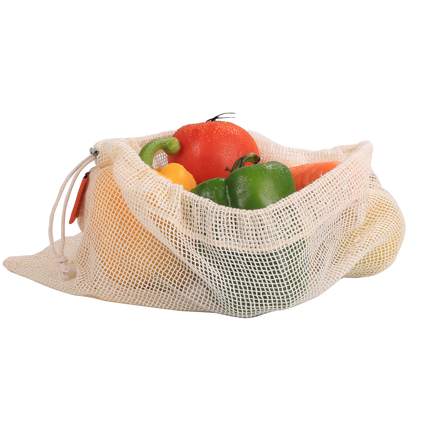 Competitive Price Printed 100% cotton reusable <strong>eco</strong> produce mesh bags