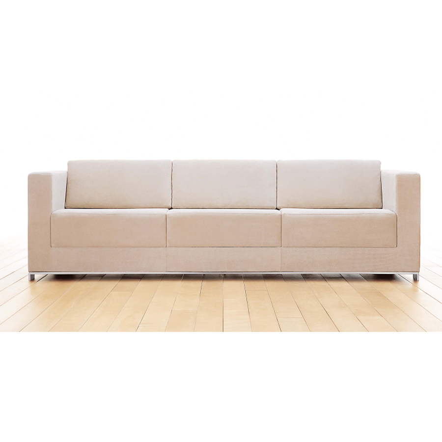 Commercial office modern style with wooden L-shape sofa use in home and office fabric sofa