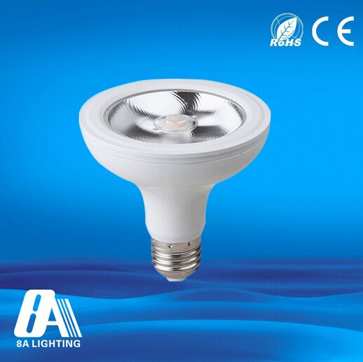Low heat aluminum high power par36 led light gu10 e27 led par light 12w with CE