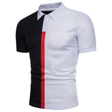 Mode spliching couleur coton polo t-shirt <span class=keywords><strong>hommes</strong></span> <span class=keywords><strong>vêtements</strong></span>