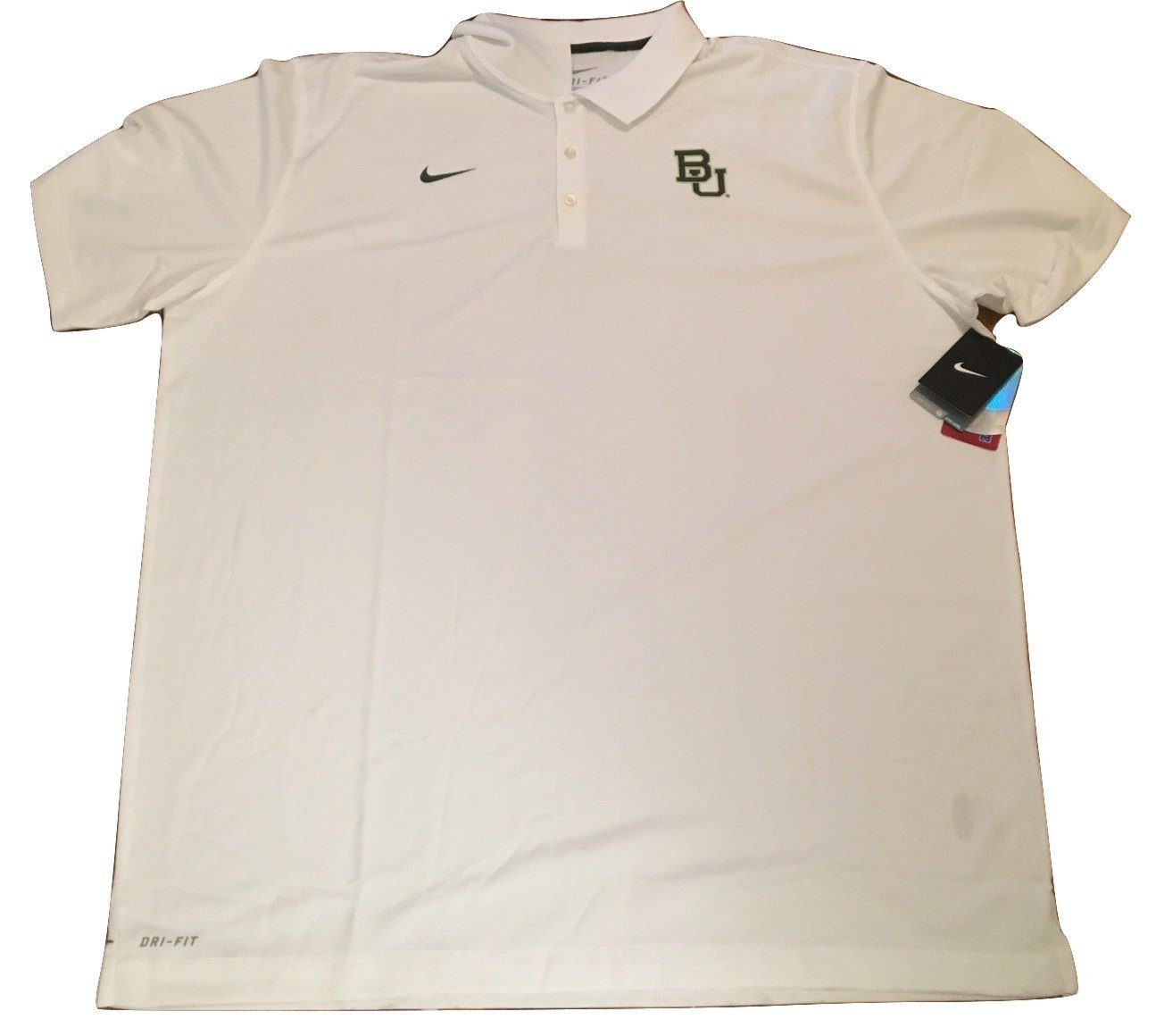 2cd6c105dbec Get Quotations · Baylor Bears Nike Dri Fit White Sideline Polo Shirt 3XL