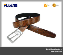 high quality reversible leather belts with removable buckles FU355