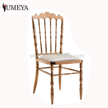 Hot sale gold metal chiavari chair used wedding chairs for sale