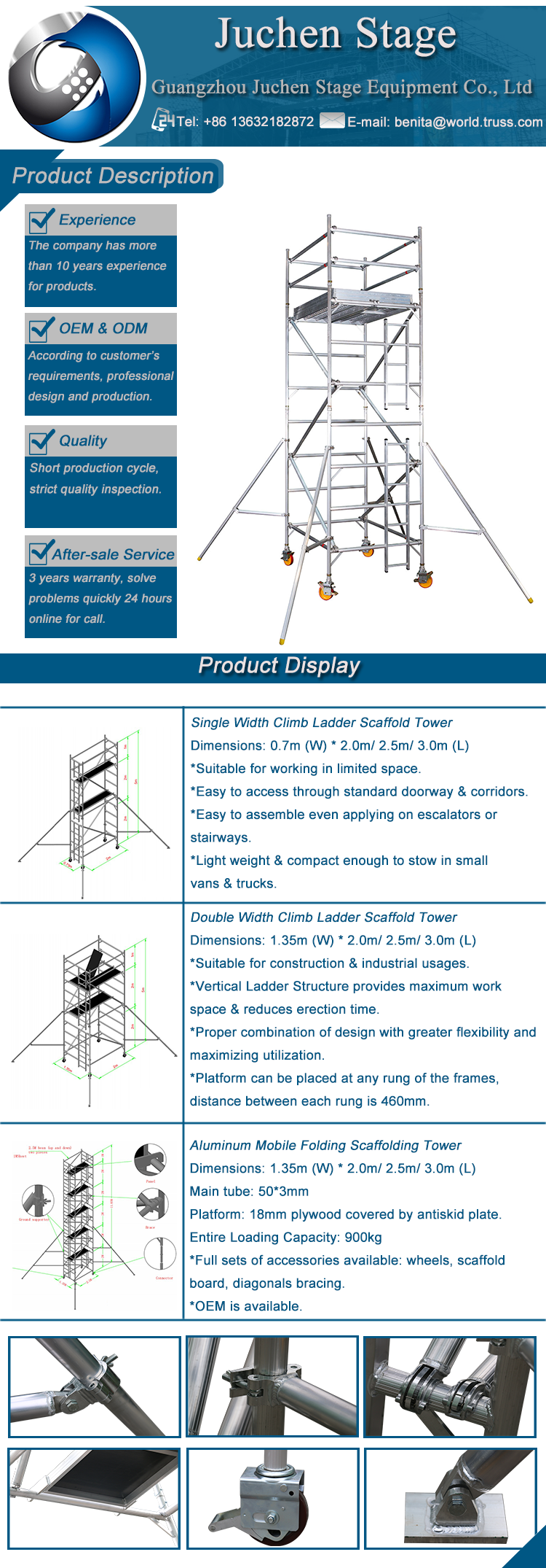 Wholesale Mobile Aluminum Scaffolding Construction,Import Scaffold From  China,Scaffold Ladder Beam Capacity For Building - Buy Aluminum