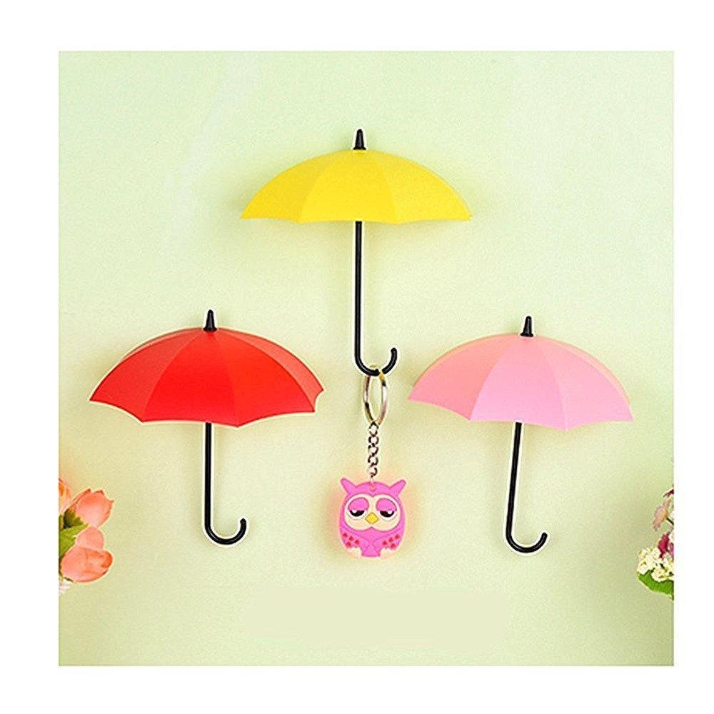 Buy Faithtur 3PCS Kitchen Home Use Umbrella Cute Wall Hooks Office ...