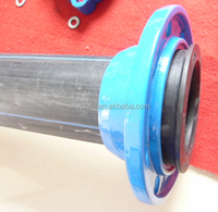 PE UPVC pipe line ductile cast iron pipe fittings restrianed flange adaptor