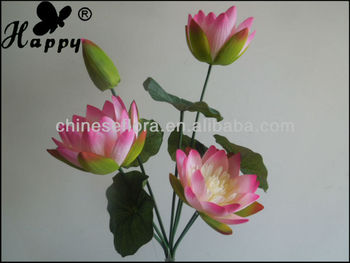 Small Lotus Bouquet Flower Making Home 9 Heads Satin Lotus Buy
