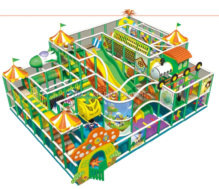 Three layers big kids indoor playground design/indoor playground jungle gym  playground/jungle theme