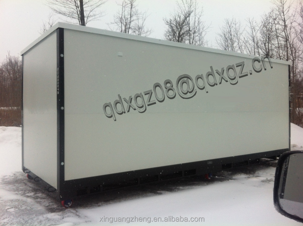Flatpack portable container outdoor storage shed