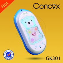 baby location phone for children with bear shape/sos button/family number Concox GK301