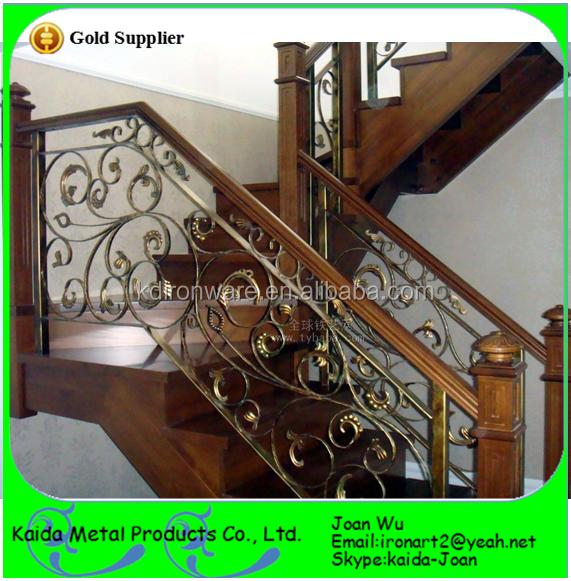 Clásico de hierro forjado barandas metálicas/barandillas de diseño ...