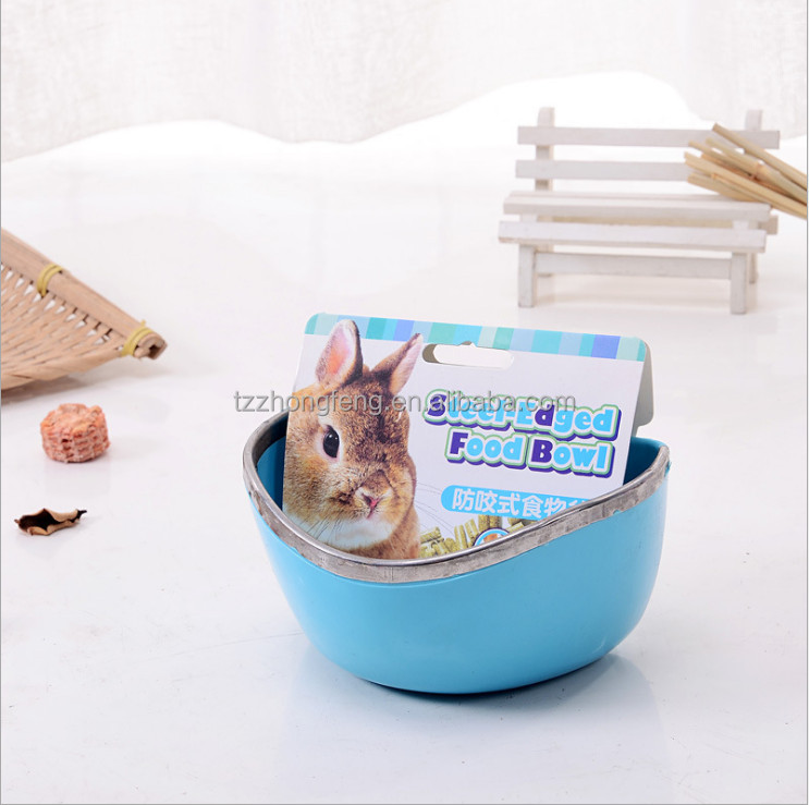 wholesale Small pet Guinea pig Fixed food bowl Hamsters bowl Accessories <strong>Rabbit</strong> manger#L14*W11*H7CM